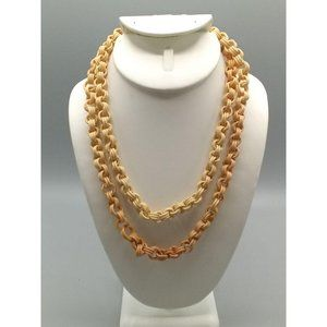 Art Deco Celluloid Link Necklace Martha Sleeper